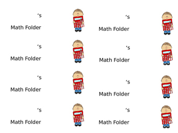 Folder Labels for Elementary Kiddos