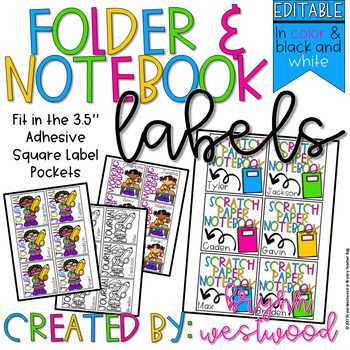 Folder & Notebook Labels (EDITABLE)