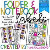 Folder & Notebook Labels (EDITABLE)