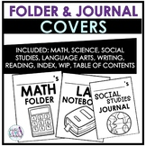 All Subject Printable Folder and Journal Covers