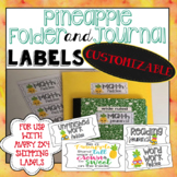 Folder and Journal Labels 2x4 - PINEAPPLE