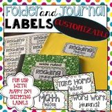 Folder and Journal Labels 2x4 - Polka Dots