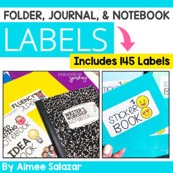 Editable Folder and Journal Labels {2x4 inches}