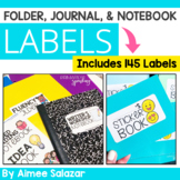 Editable Folder, Journal, and Notebook Labels {2x4 inches}
