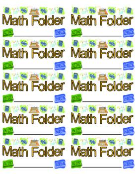 Folder and Notebook Labels **BUNDLE**