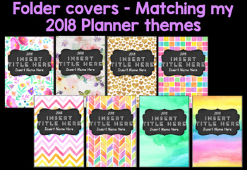 Folder covers - matching my 2018 planners