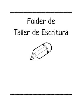 Folder del Taller de Escritura / Writer's workshop folder