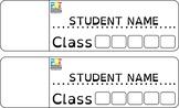 Folder name label template