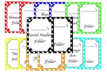 Folder/Binder Covers (Star Theme)
