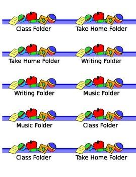 Folder/Notebook Labels for Primary Grades