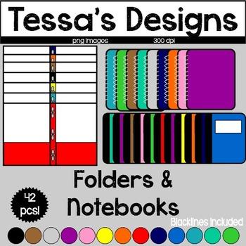 Folders & Notebooks Clipart