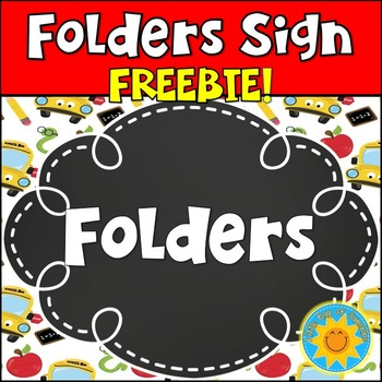 Folders Signs FREEBIE!