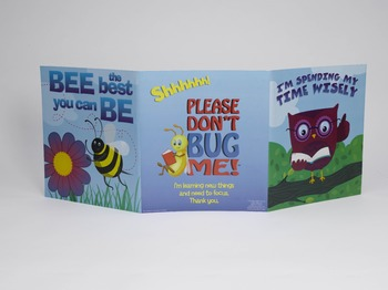 Folders for Focusing - Teacher Pack of 24 Clever Creatures Folders