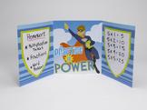 Folders for Focusing - Teacher Pack of 24 Superhero Kid! Folders