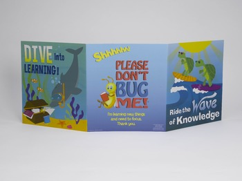 Folders for Focusing - Teacher Pack of 24 Underwater World Folders