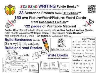 EZ2READ WRITING FOLDIE BOOKS®