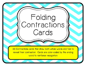 Folding Contractions Cards