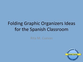 Folding Graphic Organizer Ideas for Spanish