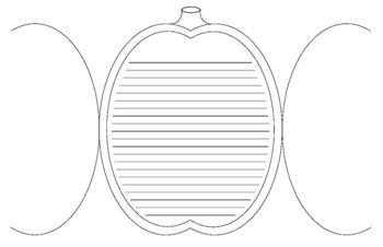 Folding Pumpkin Writing Template