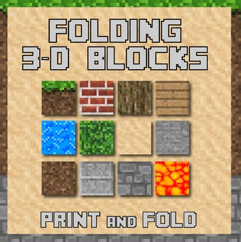 3d Folding paper cubes - Based on Minecraft