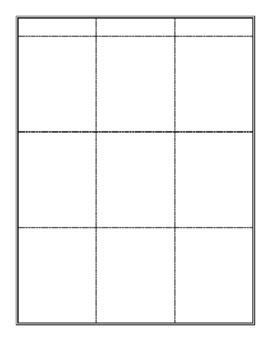 Folding Table Templates