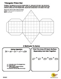 Folding Triangular Prism Nets and Surface Area