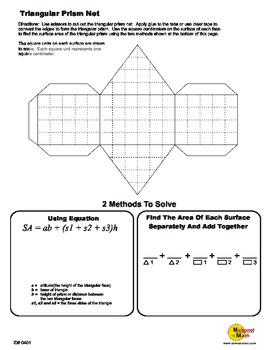 photo relating to Triangular Prism Net Printable named Folding Triangular Prism Nets and Appear Space