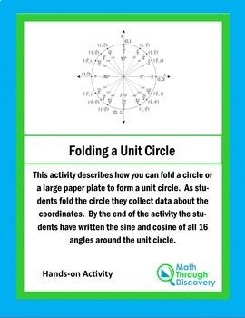 Unit Circle:  Folding a Unit Circle