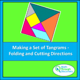 Making a Set of Tangrams - Folding and Cutting Directions