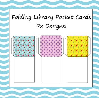Folding library pockets - 7x designs