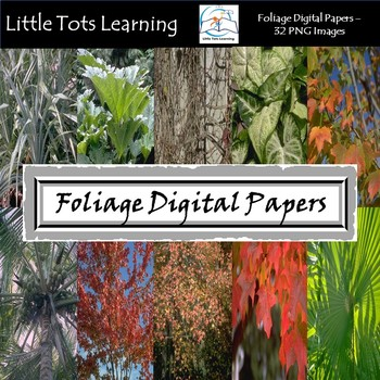 Foliage Digital Papers - Commercial Use - Pack 2