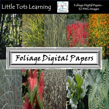 Foliage Digital Papers - Commercial Use - Pack 3
