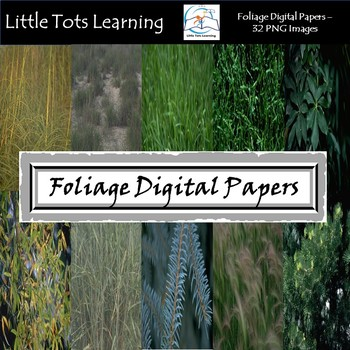 Foliage Digital Papers - Commercial Use - Pack 4