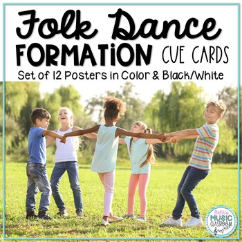 Folk Dance Formation Cue Cards - 12 Different Posters!