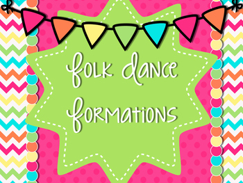 Folk Dance Formation Posters with Polka Dot