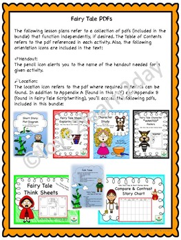 Fairy Tale Lesson Plan Bundle