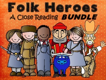 Folk Tales - A Close Reading Bundle with Activities and Assessment