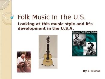 Folk Music In The U.S.
