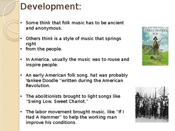 Folk Music In The U.S.