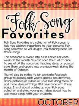 Folk Song Favorites - October