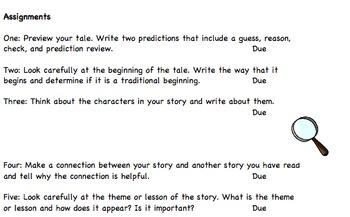 Folk Tale Genre Study Packet