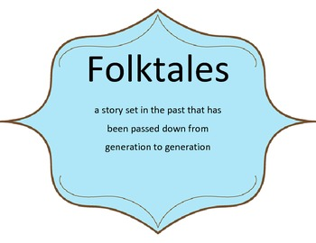 Folk Tale Posters (Myths, Legends, Fairytales, Tall tales, & Fables)