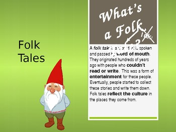 Folk Tale PowerPoint for 3rd, 4th, 5th, 6th Language Arts Common Core