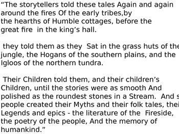 Folk Tale Powerpoint