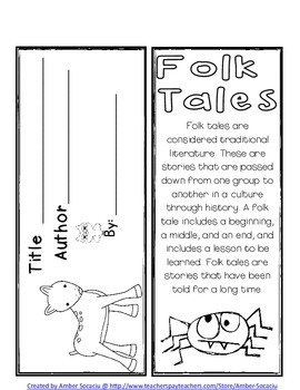 Folk Tales Book Report Lapbook