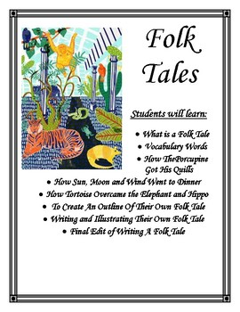 Folk Tales Creative Writing Lapbook