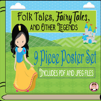 Folk Tales Genre PowerPoint and Posters BUNDLE