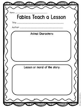 Folk Tales Graphic Organizers