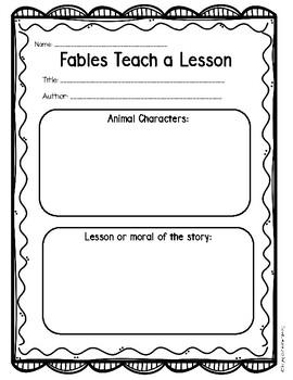 Folktales Graphic Organizers