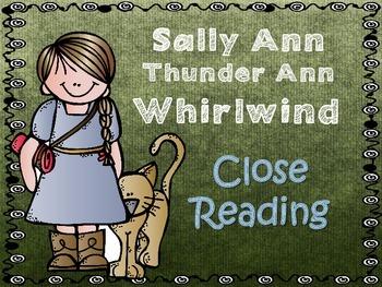 Folk Tales - Sally Ann Thunder Ann Whirlwind Close Reading